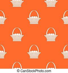 Easter basket pattern seamless