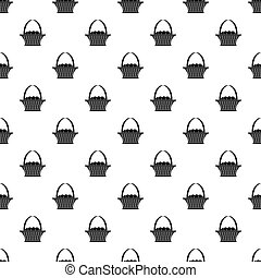 Easter basket pattern vector