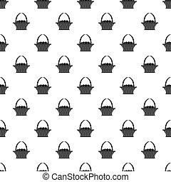 Easter basket pattern vector