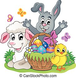 Easter basket theme image
