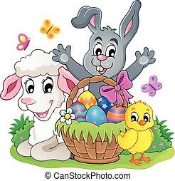 Easter basket theme image