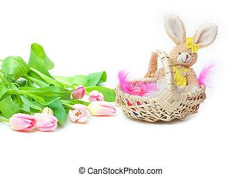 Easter Basket, tulips