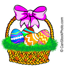 Easter Basket with a pink bow