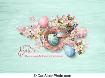 Easter Bird and Nest