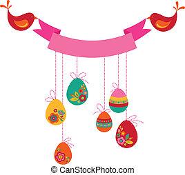 Easter birds card