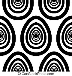 Easter black painted eggs seamless art pattern