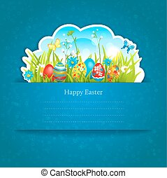 Easter blue background