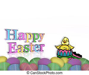 Easter Border chick in egg