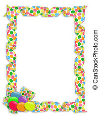 Easter Border ribbons and candy - Image and illustration...