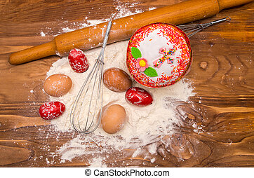 Easter bread and ingredient
