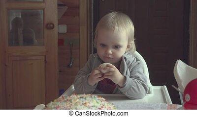 Easter breakfast for a little girl