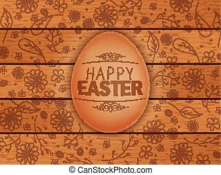 Easter brown background