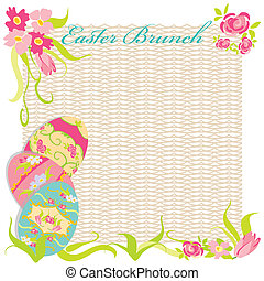 Easter Brunch Invitation Party - Pretty victorian style hand...
