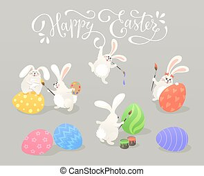 easter bunnies collection