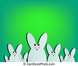 Easter bunnies in eggs