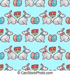 Easter bunnies seamless pattern6