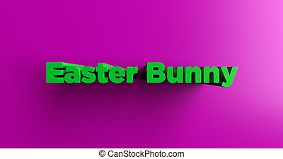 Easter Bunny - 3d rendered headline