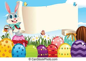 Easter Bunny - A vector illustration of an Easter bunny...