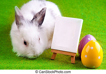Easter bunny and table