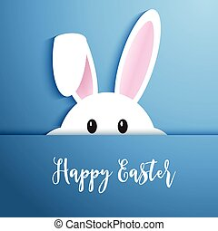 Easter bunny background - Easter background with cute rabbit...
