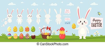 Easter bunny character for animation