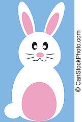 Easter Bunny - Cute isolated easter bunny rabbit