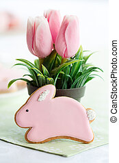 Easter bunny cookie