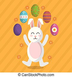 easter bunny decorated eggs image