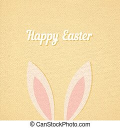 Easter bunny ears card