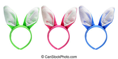 Easter Bunny Ears on White Background