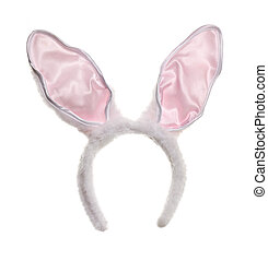 Easter bunny ears isolated on white background