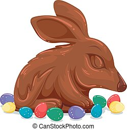Easter Bunny Egg Chocolate Illustration