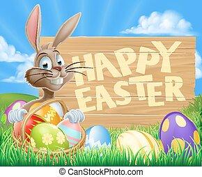 Easter Bunny Egg Sign