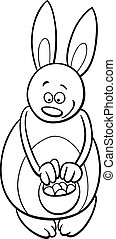 easter bunny for coloring book