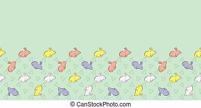 Easter Bunny Frame Border Seamless Patten