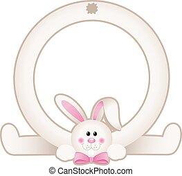 Easter bunny frame