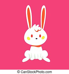 Easter bunny fun on a pink