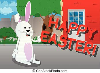 Easter bunny giving you thumbs up.