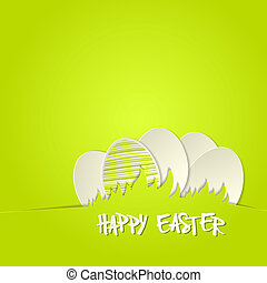 Easter bunny in grass greeting card