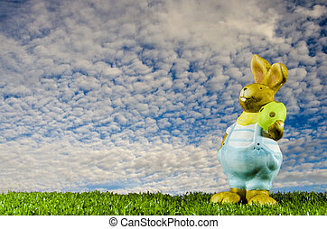 Easter bunny in the aky