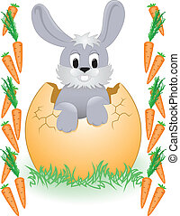 Easter Bunny in the carrot frame