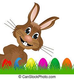 Easter Bunny looks left