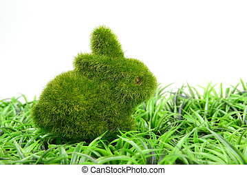 Easter bunny on grass