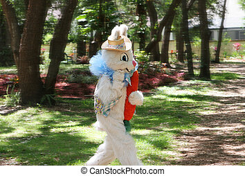 Easter Bunny On the Run - A photo of the Easter Bunny...