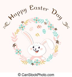 Easter Bunny On The White Background
