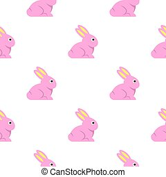 Easter bunny pattern seamless