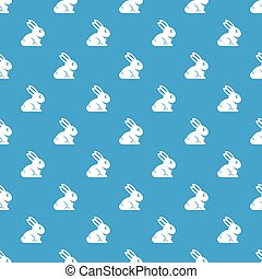 Easter bunny pattern seamless blue