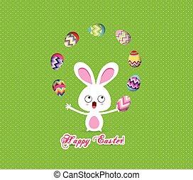easter bunny playful cute eggs fun
