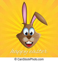 Easter bunny rabbit card
