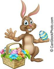 Easter Bunny Rabbit Egg Hunt Cartoon